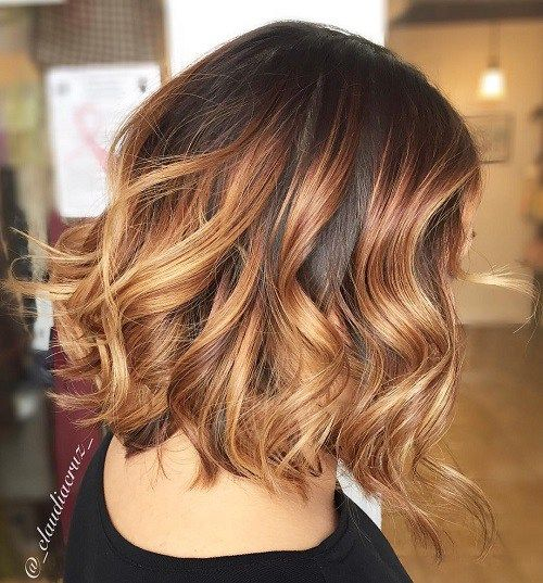 Burgundy and Strawberry Blonde Waves