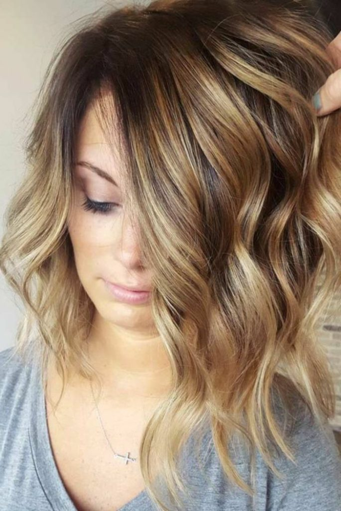 Caramel Highlights and Tousled Waves