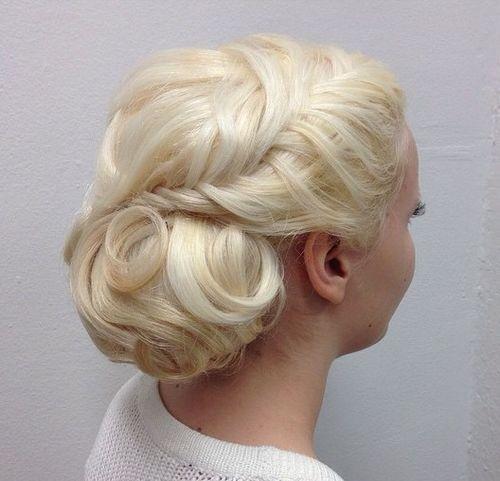 Chamomile Blonde Formal Updo