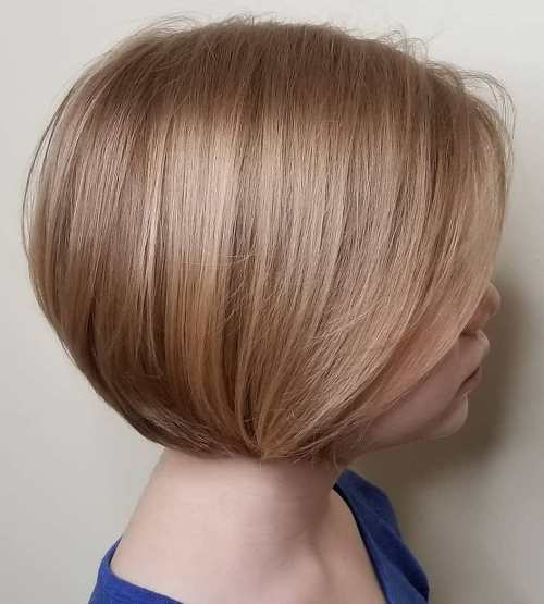 Chin Length Rounded Bob for Girls