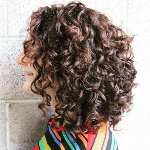 Chocolate Brown Bob with Luscious Curls