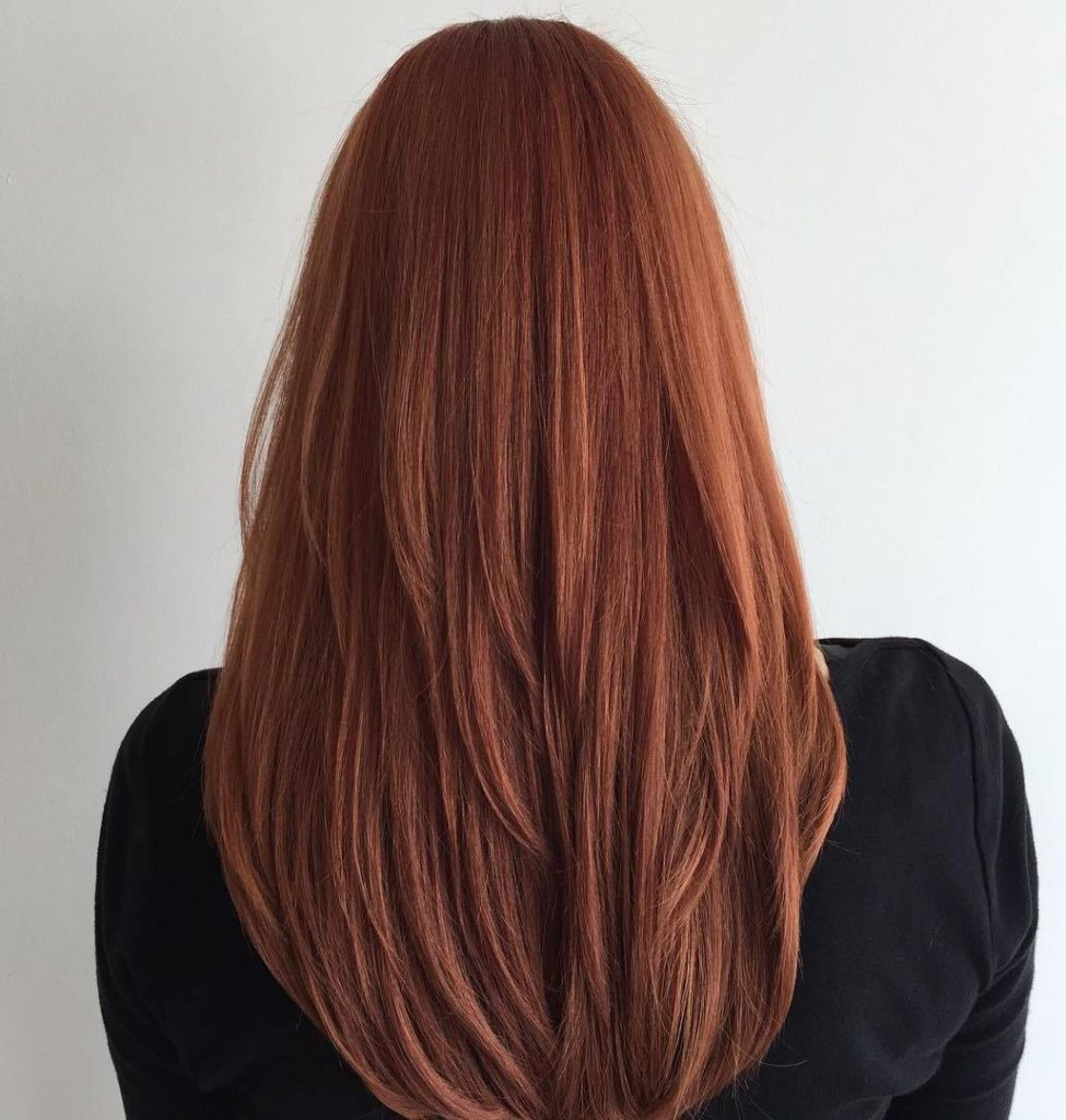 Classic Long Layers for Thick Straight Hair 1