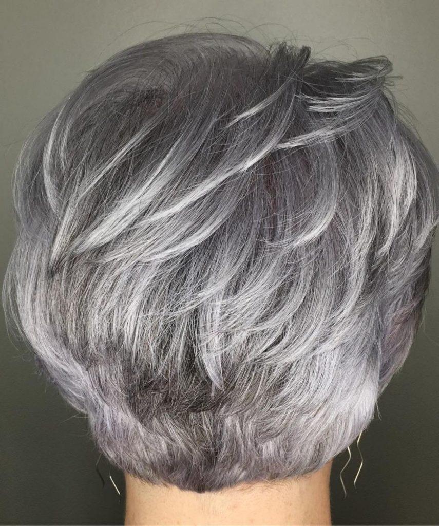 Cool Toned Silver Balayage