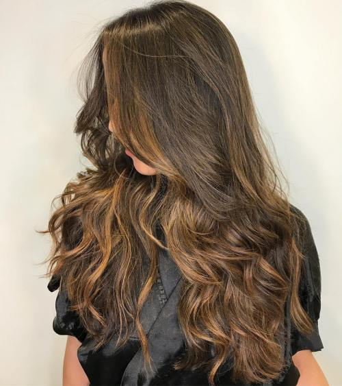 Curled Hair with Subtle Balayage