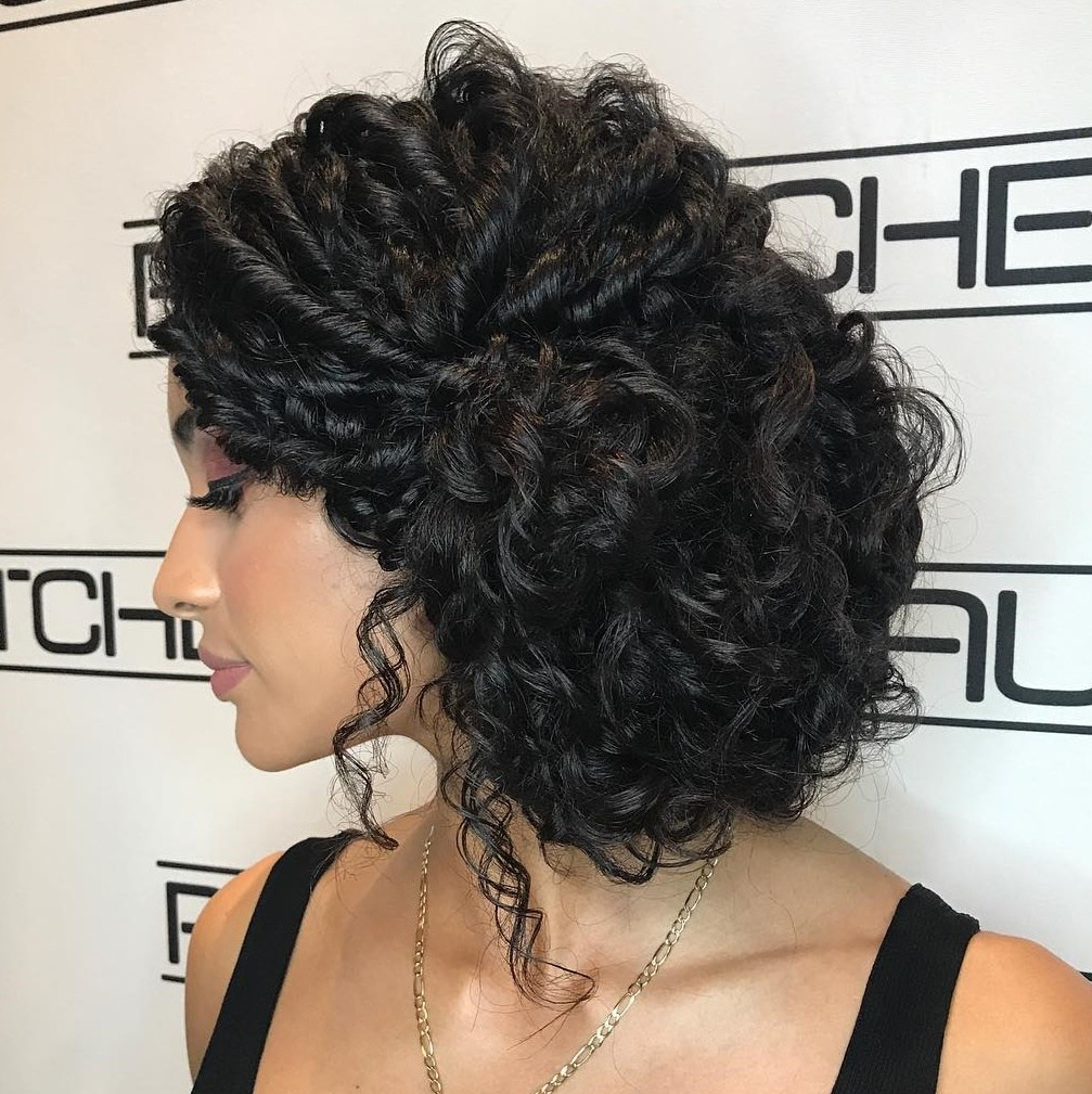 Curly Twisted Updo