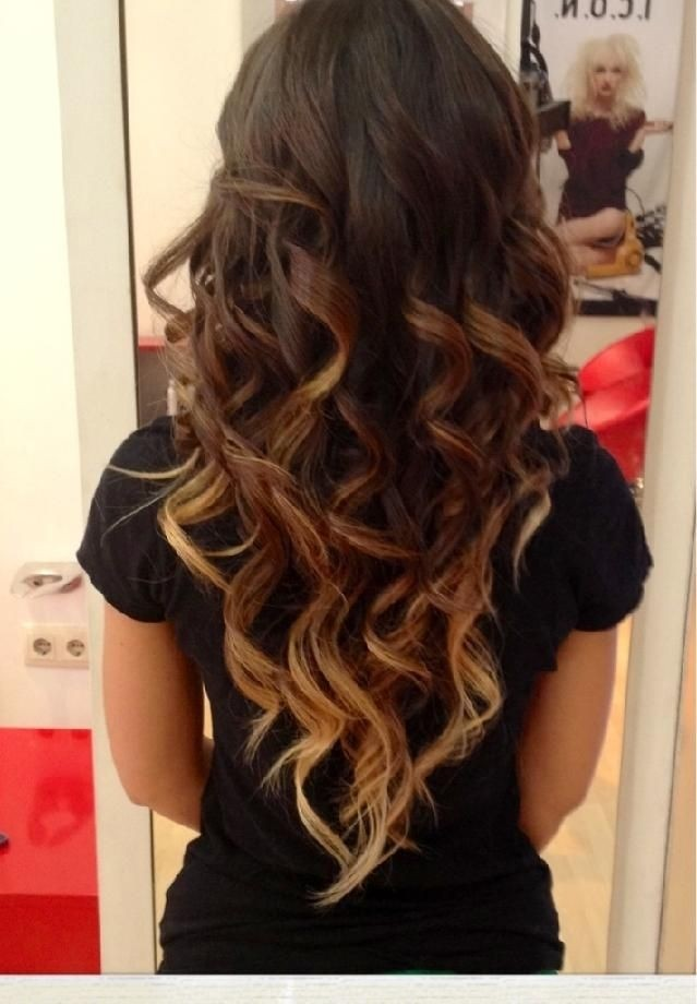 Cute Hairstyles for Long Hair Dark Brown to Light Brown To Blonde Ombre