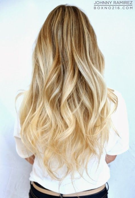 Cute Long Wavy Hair Ombre Hairstyles