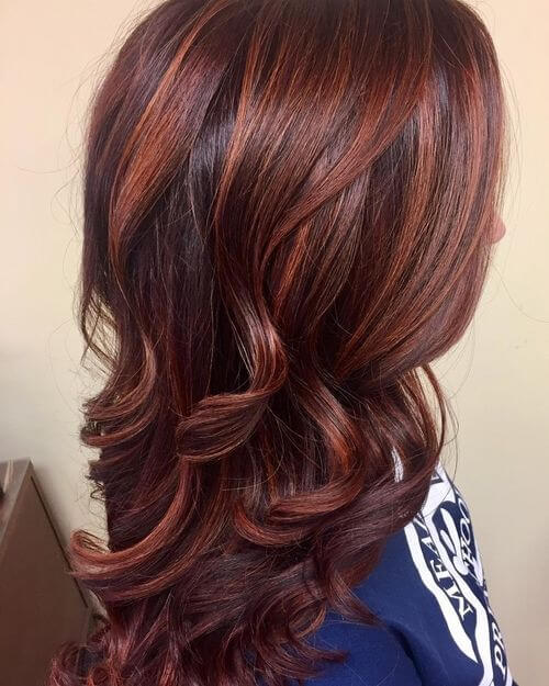 Dark Brown and Indian Red
