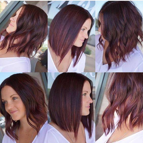 Dark Chocolate Hair with Burgundy Balayag