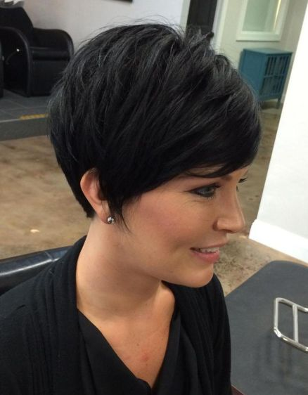 Dark Pixie Cut with Layers