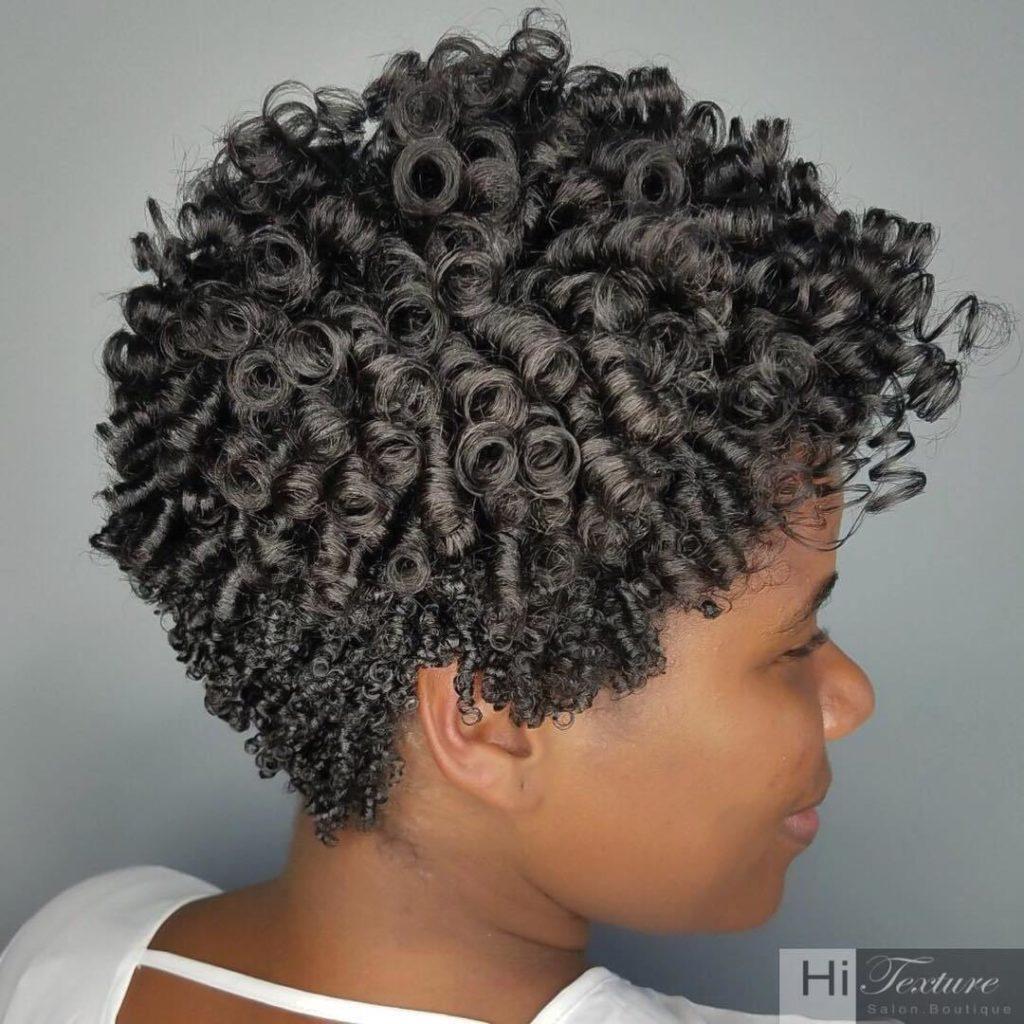 Easy Short Natural Curls