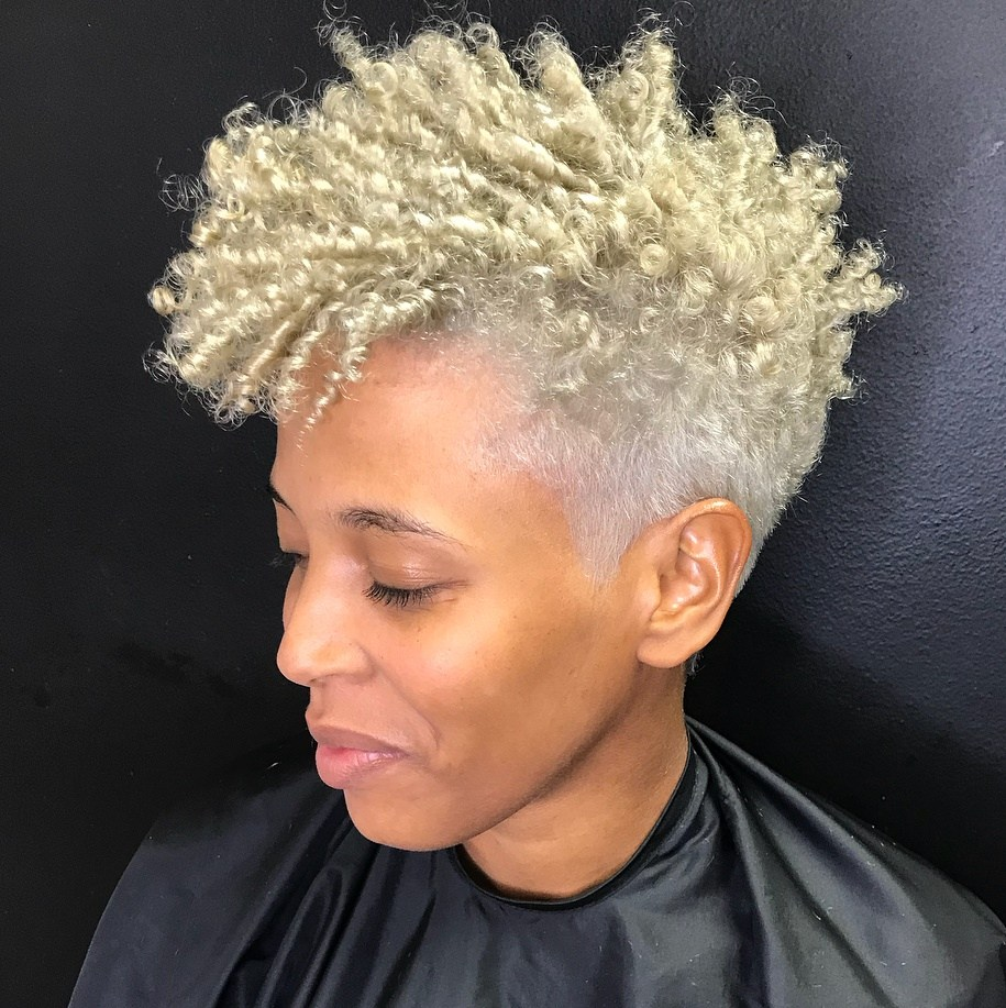 Edgy Blonde Hairstyle 1