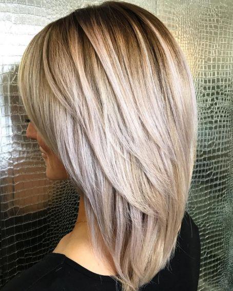Elongated Layered Haircut for Straight Hair
