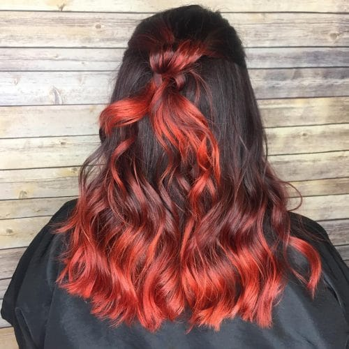 Fiery Bright Red Highlights