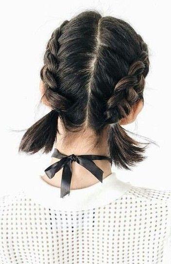 French braid short hair