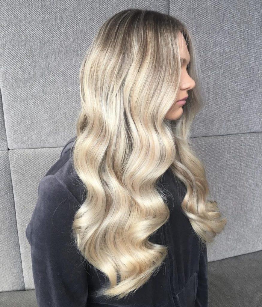 Glossy Ash Blonde Waves