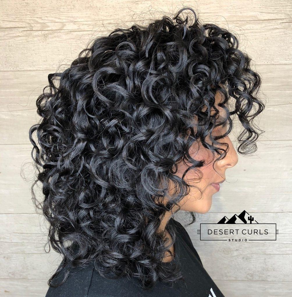 Glossy Defined Curls