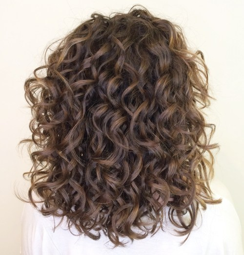 Gorgeous Medium Curly Bouncy Hairstyle