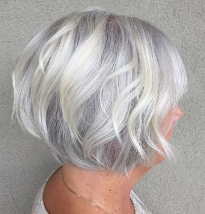Gray Bob with Delicate Layers