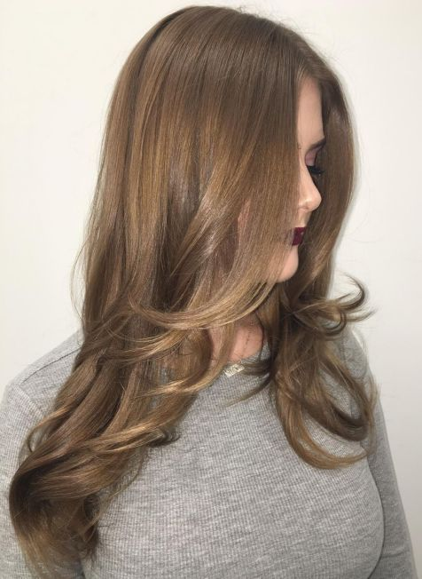 Hairstyle with Long Angled Layers