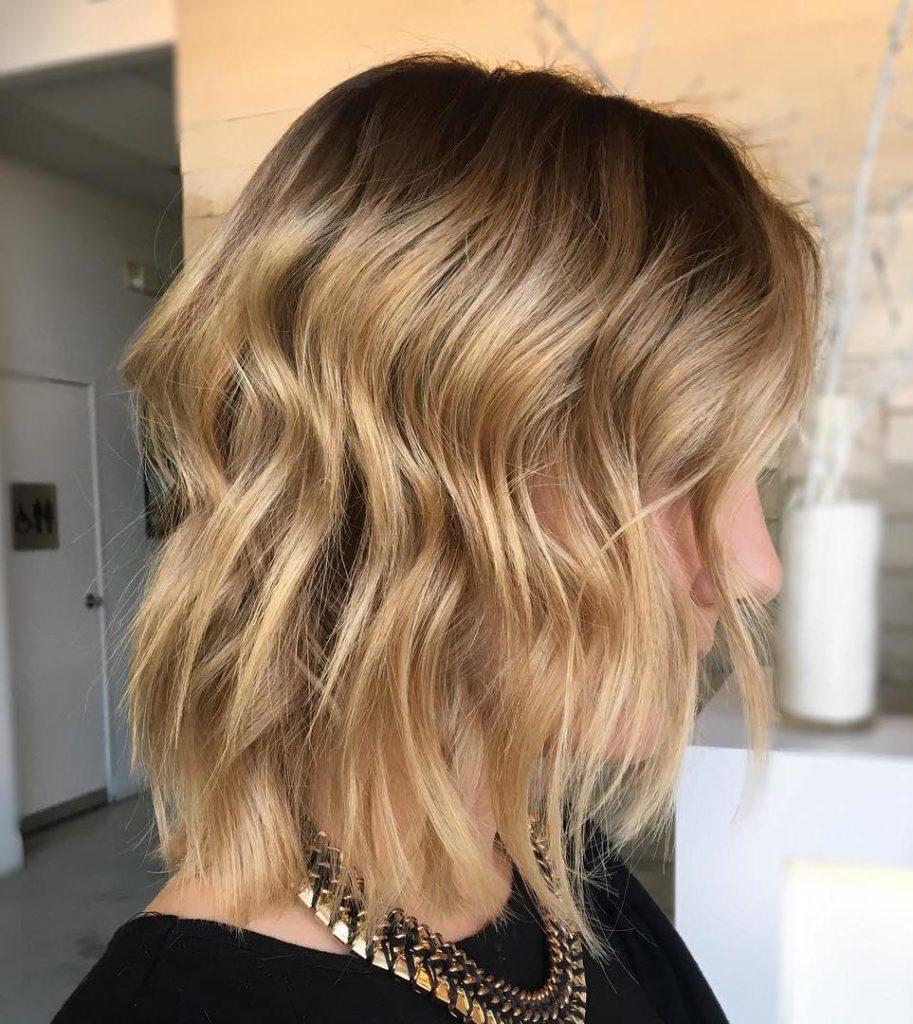 Honey Blonde with Darker Roots