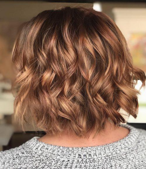 Honey Brown Hair with Beachy Waves