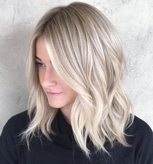 Icy Highlights and Loose Curls