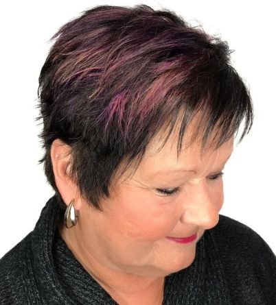 Layered Pixie with Textured Bangs