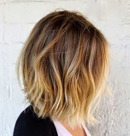 Light Brown And Blonde Ombre Short Hair