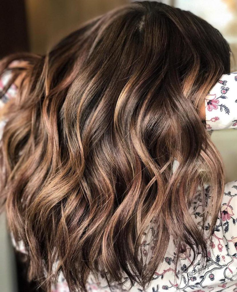 Light Chocolate Brown with Highlights