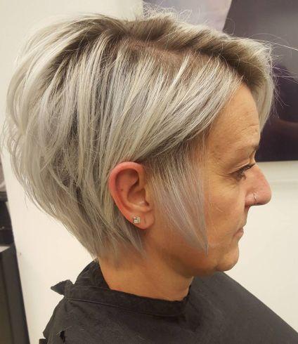 Long Ash Blonde Pixie for Fine Hair