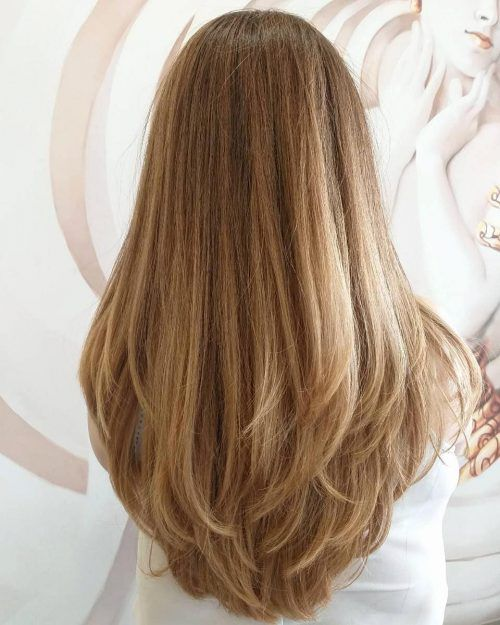 Long Cut with Feathered and Highlighted Ends