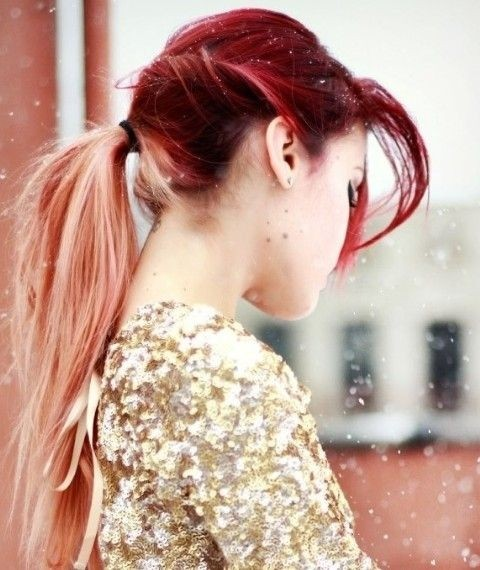 Long Hair Trend Cute Ombre Hair for Ponytail