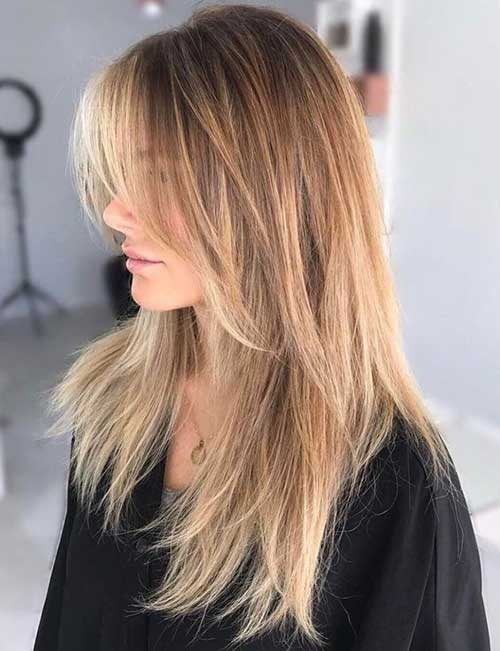 Long Hair with Long Feathered Layers