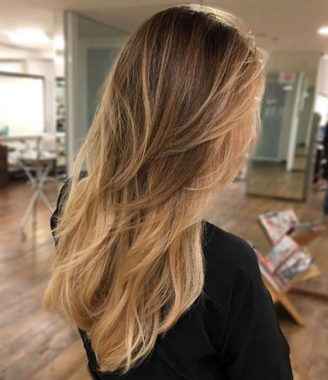 Long Layered Ombre Hair 1