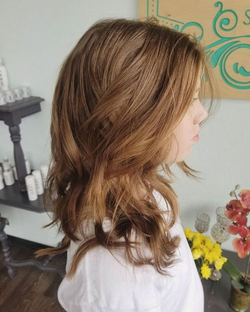 Long Messy Hairstyle with Layers