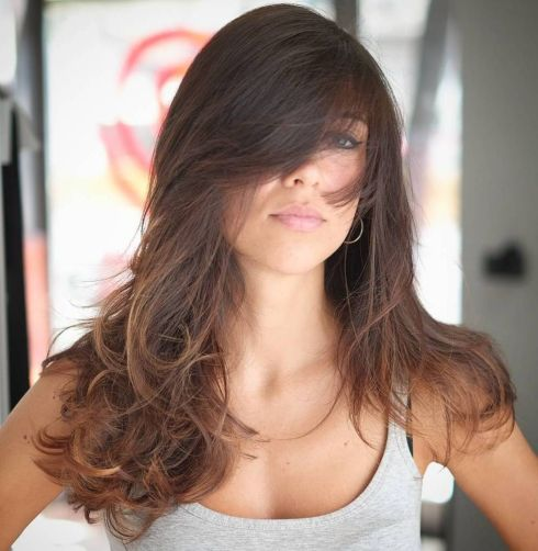 Long Ombre Hairstyle with Bangs