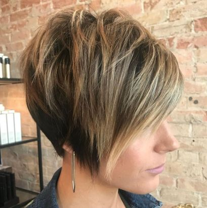 Long Tapered Pixie with Messy Crown 1