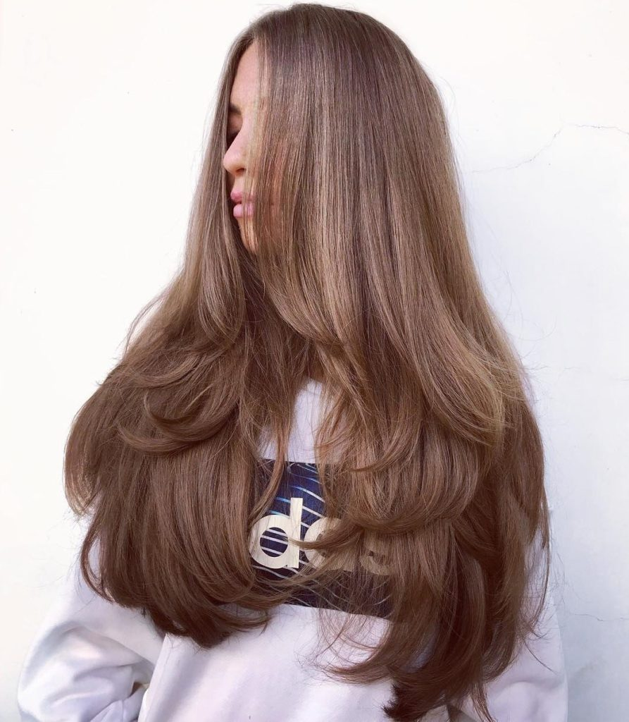 Long Thick Layered Hair
