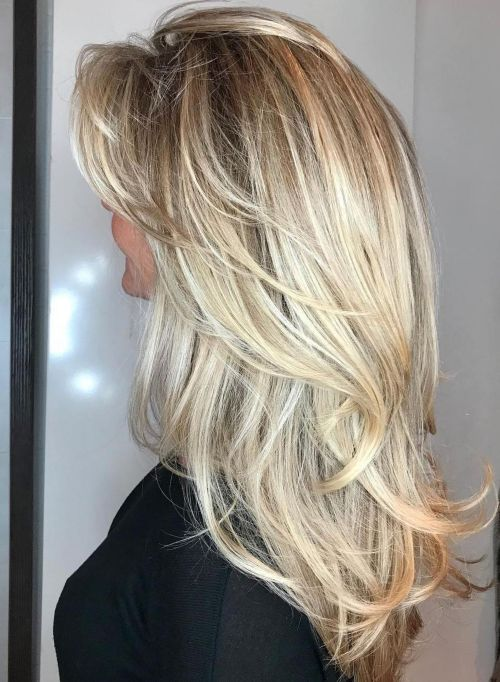Long Tousled Style with V cut Layers