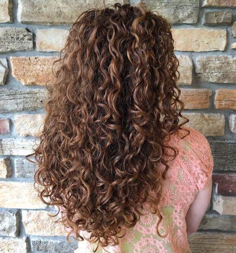 Long V Cut for Curly Hair