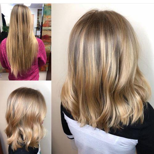 Medium Choppy Haircut for Girls