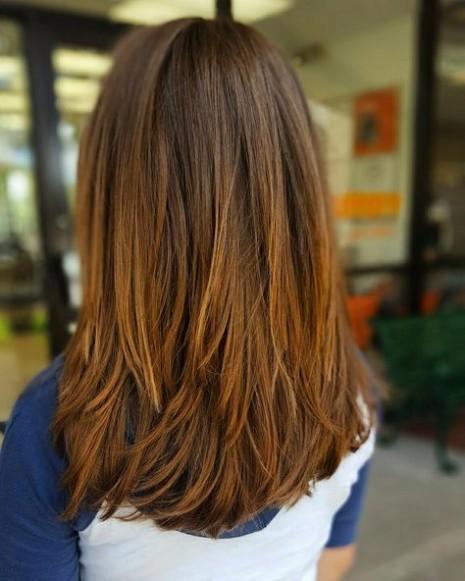 Medium Length Hair with Choppy Layers