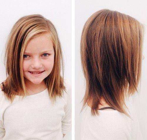 Medium Length Little Girl Haircut