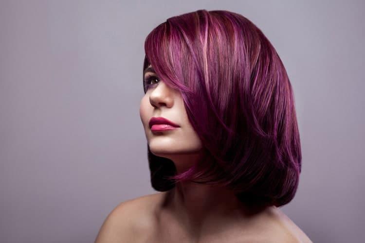Medium Wavy Dark Burgundy Red Hairstyle