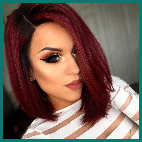 Medium dark red hair