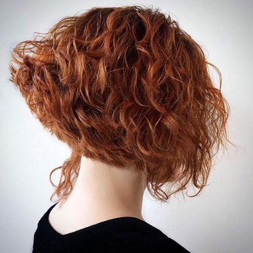 Messy Curly Bob Haircut