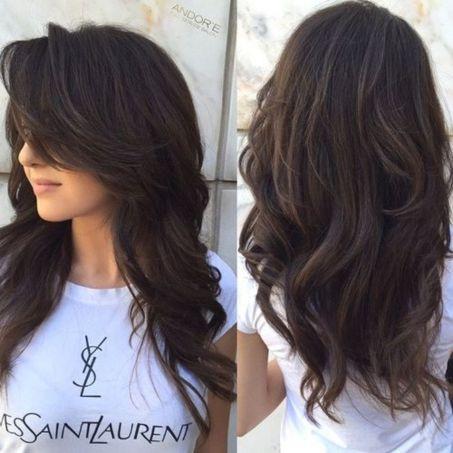 Messy Loose Curls with Voluminous Bangs