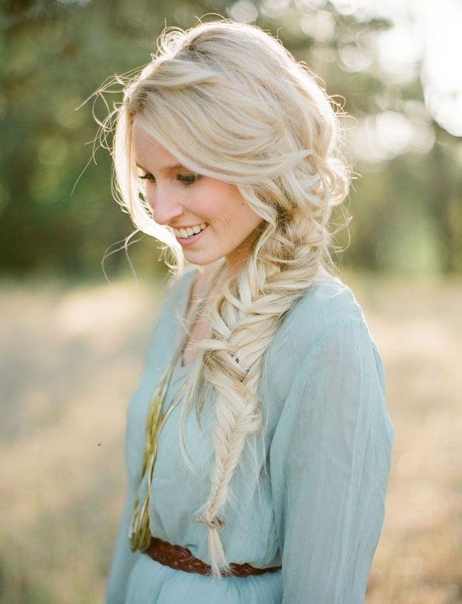 Messy Loose Side Braid Cute Long Hairstyles