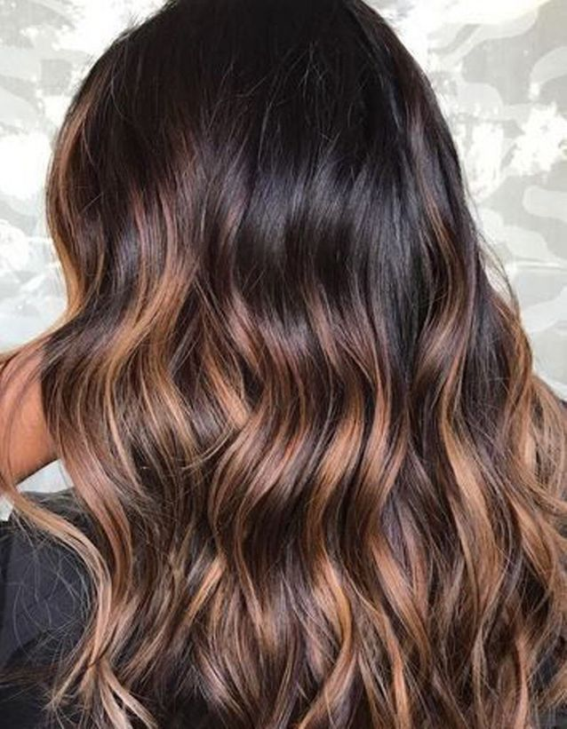 Messy Tawny Waves for Brunettes